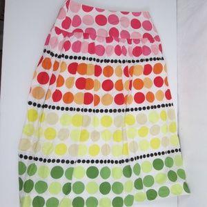 Talbots Cotton Skirt Polka Dot Size 2